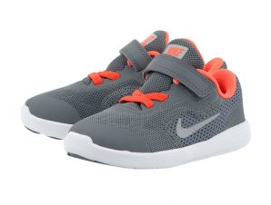 Nike – Nike Revolution 3 (TDV) Toddler 8819415-012 – ΓΚΡΙ/ΠΟΡΤΟΚΑΛΙ