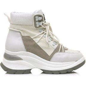Δερμάτινο λευκό sneaker SIXTYSEVEN 30300