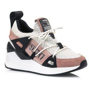Δερμάτινο ροζ sneaker SIXTYSEVEN 30301