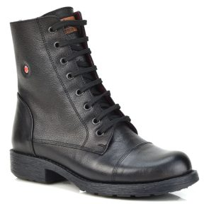 Δερμάτινο μαύρο biker boot Fratelli Robinson 3555