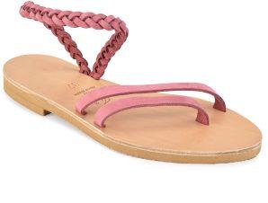 Δερμάτινο φούξια σανδάλι με κοτσίδα Iris Sandals IR4/13
