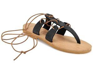 Μαύρο δερμάτινο σανδάλι Iris Sandals IR8/10