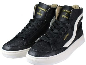 SUPERDRY Basket Lux Trainer WF110071A Μαύρο