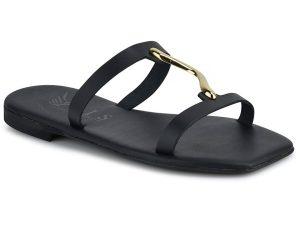 Δερμάτινo μαύρο σανδάλι Iris Sandals IR20/35